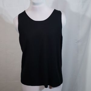 NWT Eileen Fisher Black Silk Cashmere Top Small
